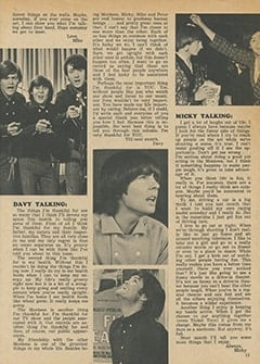 <cite>Tiger Beat</cite> (April 1967), Monkee Talk, Page 11