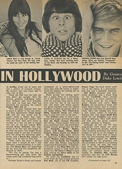 <cite>Tiger Beat</cite> (April 1967), It&rsquo;s Happening in Hollywood, Page 15