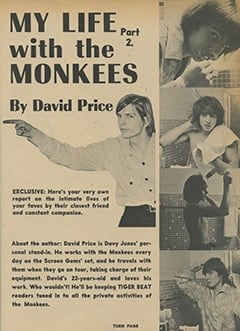 <cite>Tiger Beat</cite> (April 1967), My Life with The Monkees (Part 2), Page 21