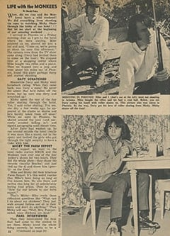 <cite>Tiger Beat</cite> (April 1967), My Life with The Monkees (Part 2), Page 22