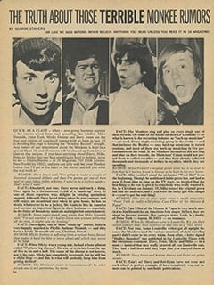 <cite>16</cite> (May 1967), The Truth About Those Terrible Monkee Rumors, Page 56