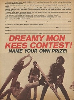 <cite>Flip</cite> (May 1967), Dreamy Monkees Contest, Page 66