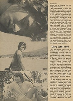 <cite>Monkee Spectacular</cite> (May 1967), I Went Along on Davy's Outasite Vacation, Page 22