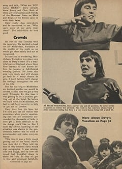 <cite>Monkee Spectacular</cite> (May 1967), I Went Along on Davy's Outasite Vacation, Page 25