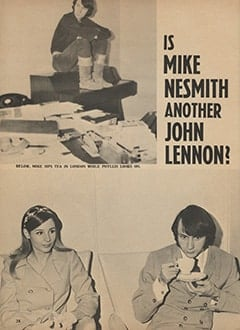 <cite>Monkee Spectacular</cite> (May 1967), Is Mike Nesmith Another John Lennon?, Page 28