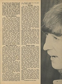 <cite>Monkee Spectacular</cite> (May 1967), Is Mike Nesmith Another John Lennon?, Page 29