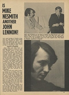 <cite>Monkee Spectacular</cite> (May 1967), Is Mike Nesmith Another John Lennon?, Page 31