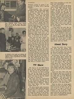 <cite>Monkee Spectacular</cite> (May 1967), I Went Along on Davy's Outasite Vacation, Page 38