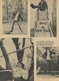 <cite>Monkee Spectacular</cite> (May 1967), Davy in New York, Page 57