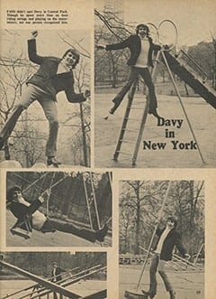 <cite>Monkee Spectacular</cite> (May 1967), Davy in New York, Page 59