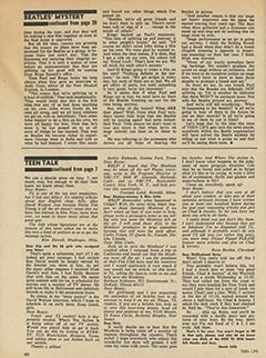 <cite>Teen Life</cite> (May 1967), Teen Talk, Page 60