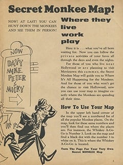 <cite>Tiger Beat</cite> (May 1967), Secret Monkee Map, Page 03