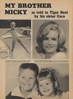 <cite>Tiger Beat</cite> (May 1967), My Brother Micky, Page 10