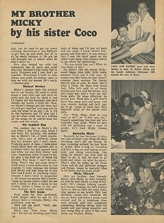 <cite>Tiger Beat</cite> (May 1967), My Brother Micky, Page 12