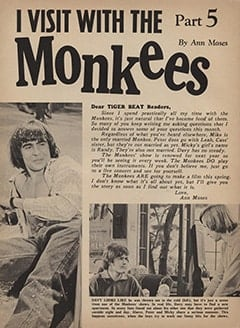 <cite>Tiger Beat</cite> (May 1967), I Visit with The Monkees (Part 5), Page 20