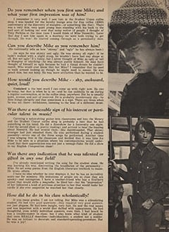<cite>Tiger Beat</cite> (May 1967), Mike Nesmith's College Days, Page 25