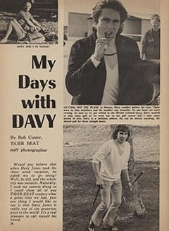 <cite>Tiger Beat</cite> (May 1967), My Days with Davy, Page 28
