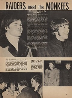 <cite>Tiger Beat</cite> (May 1967), Raiders Meet The Monkees, Page 33