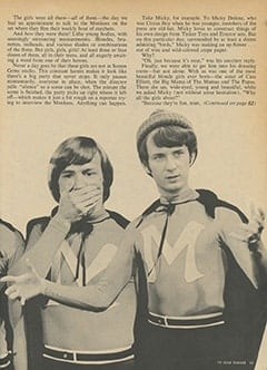 <cite>TV Star Parade</cite> (May 1967), The Girls Who Live with The Monkees, Page 33