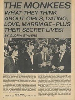 <cite>16 Spec</cite> (Summer 1967), The Monkees: What They Think About Girls, Dating, Love, Marriage, Page 04