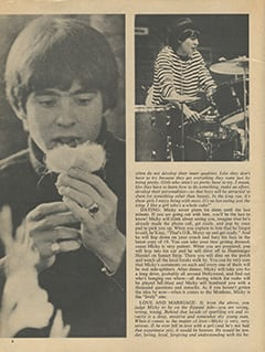 <cite>16 Spec</cite> (Summer 1967), The Monkees: What They Think About Girls, Dating, Love, Marriage, Page 06