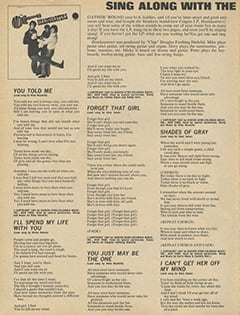 <cite>16 Spec</cite> (Summer 1967), Sing Along with The Monkees in Their Brand-New LP, Page 42