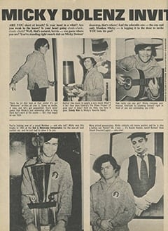 <cite>16</cite> (June 1967), Micky Dolenz Invites You to His Home, Page 36