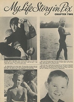 <cite>16</cite> (June 1967), My Life Story in Pix by Peter Tork, Page 52