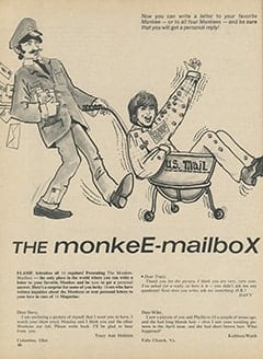 <cite>16</cite> (June 1967), The Monkee-Mailbox, Page 58