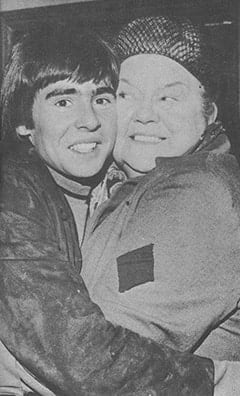 Davy Jones, Ena Sharples (Violet Carson)