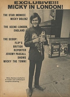 <cite>Flip</cite> (June 1967), I Took Micky Dolenz Around London, Page 03