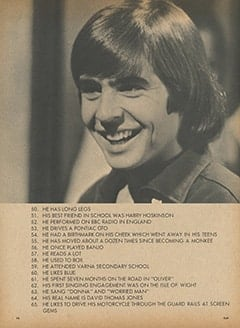 <cite>Flip</cite> (June 1967), 72 Very Personal Fax About Davy Jones, Page 14