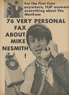 <cite>Flip</cite> (June 1967), 76 Very Personal Fax About Mike Nesmith, Page 52