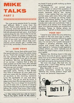 <cite>Monkees Monthly</cite> (June 1967), Mike Talks About His Childhood, Page 05