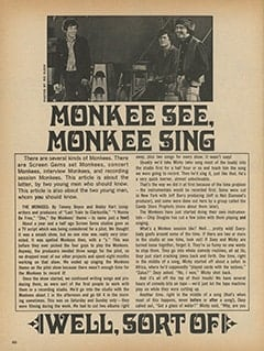<cite>TeenSet</cite> (June 1967), Monkee See, Monkee Sing (Well, Sort Of), Page 46