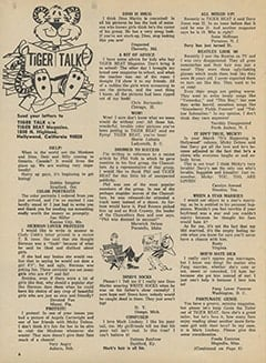 <cite>Tiger Beat</cite> (June 1967), Tiger Talk, Page 06