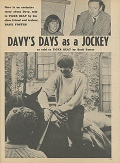 <cite>Tiger Beat</cite> (June 1967), Davy's Days As a Jockey, Page 11
