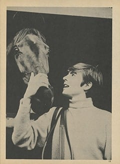 <cite>Tiger Beat</cite> (June 1967), Davy's Days As a Jockey, Page 13