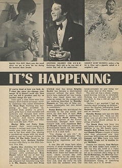 <cite>Tiger Beat</cite> (June 1967), It&rsquo;s Happening in Hollywood, Page 14