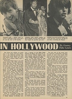 <cite>Tiger Beat</cite> (June 1967), It&rsquo;s Happening in Hollywood, Page 15