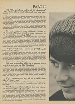 <cite>Tiger Beat</cite> (June 1967), Mike Nesmith by His College Teacher (Part 2), Page 21
