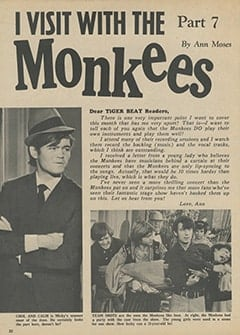 <cite>Tiger Beat</cite> (June 1967), I Visit with The Monkees (Part 7), Page 30