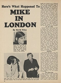 <cite>Tiger Beat</cite> (June 1967), Here's What Happened to Mike in London, Page 36
