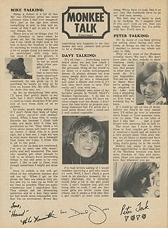 <cite>Tiger Beat</cite> (June 1967), Monkee Talk, Page 58