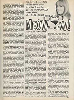 <cite>Tiger Beat</cite> (June 1967), Meow&hellip;w!, Page 67
