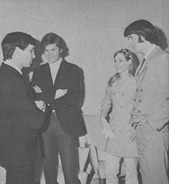 Gene Pitney, Micky Dolenz, Phyllis Barbour Nesmith, Mike Nesmith