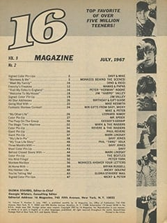 <cite>16</cite> (July 1967) table of contents