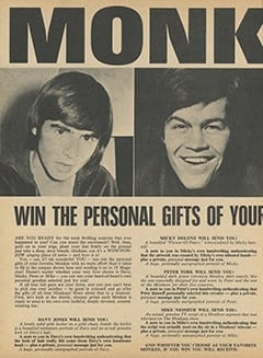 <cite>16</cite> (July 1967), Monkees Sweepstakes Contest, Page 24