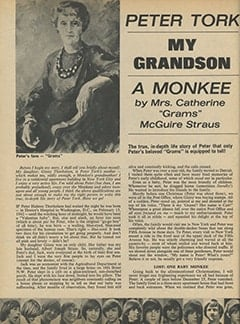 <cite>16</cite> (July 1967), Peter Tork: My Grandson, a Monkee, Page 52