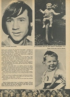 <cite>16</cite> (July 1967), Peter Tork: My Grandson, a Monkee, Page 53